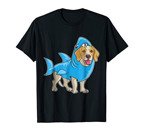 Beagle Shark Shirt Funny Dog Suit Puppy Great White Gift ()