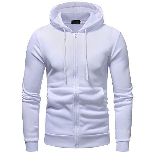Sweat lin Outwears Manches Unicolore Capuche Plus Day Blanc Hiver Hommes Liquidation Automne À Longues 0Ux1SFq6