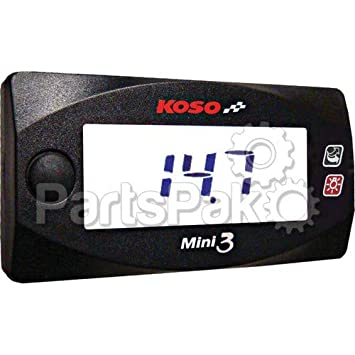 Koso 27-5789; Mini 3 Air Fuel Gauge Motorcycle & ATV Handlebar Accessories