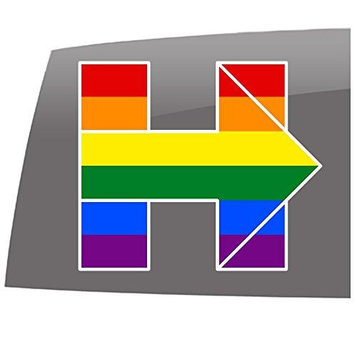 Hillary Clinton H - Gay Pride - Color - Decal - Political - Hillary Clinton - Vinyl Sticker