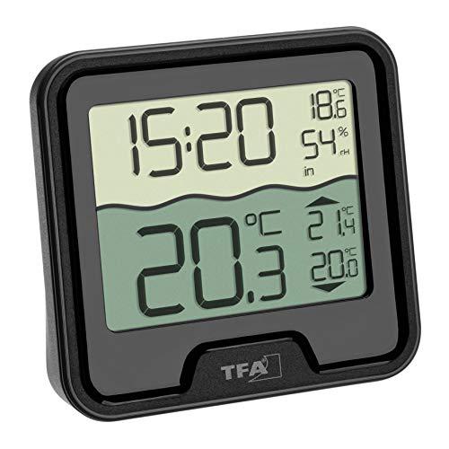 TFA Dostmann Marbella Thermomètre de piscine sans fil Noir 110 x 110 x 210 mm