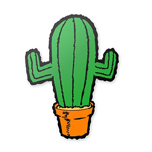 Applicable Pun Cactus in Clay Planting Pot - Vinyl Decal for Outdoor Use on Cars, ATV, Boats, Windows and More - Color 6 inch