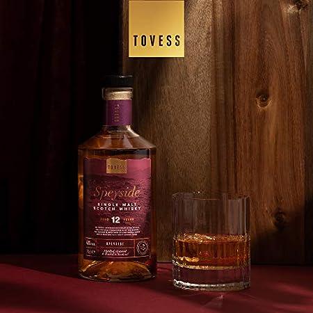 Tovess Whisky escocés puro de malta de Speyside de 12 años - 700 ml