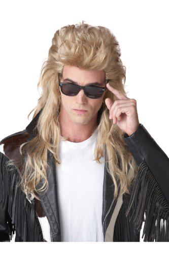 California Costumes 80S Rock Mullet Wig, Blonde, One Size (Fancy Dress 80s Style)
