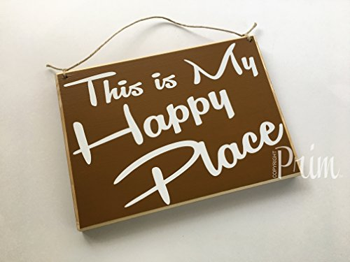 Cheap Prim and Proper Decor This is My Happy Place 10×8 (Choose Color) Custom Rustic Shabby Chic Wood Sign