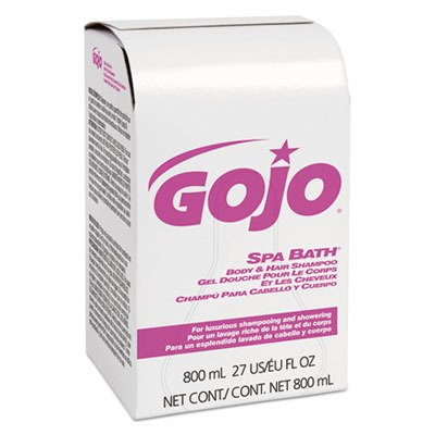 GOJO 915212 Spa Bath Body and Hair Shampoo, Pleasant, 800mL Bag-in-Box Refill (Case of 12)