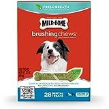Milk-Bone Brushing Chews Fresh Breath Daily Dental Treats - Small/Medium, 22-Ounce, 28 Bones