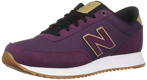 New Womens Flat - New Balance Women's 501v1 Sneaker, Dark Currant/Hemp, 9.5 B US