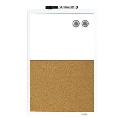 Quartet Dry Erase Combination Board, Magnetic, 11' x 17', White Frame (MHOC1117)