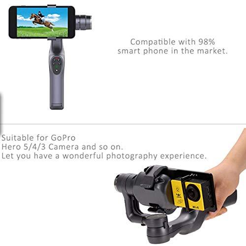 Estabilizador sin cepillo de la bandeja del Gimbal del PDA de JY-1S 2-Smartphone sin manos con el adaptador de la leva para...