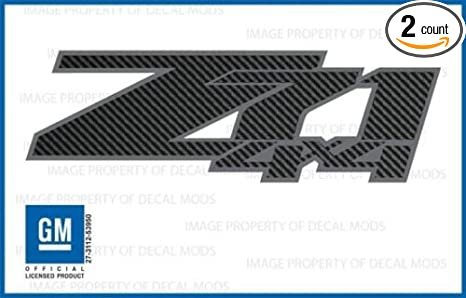 Chevy silverado z71 4x4 decals stickers carbon fiber black pattern fcfb 2007 2013
