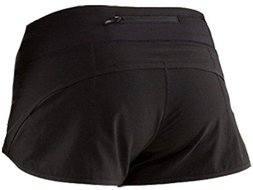 Women WOD Shorts, Running Shorts (Black, M)