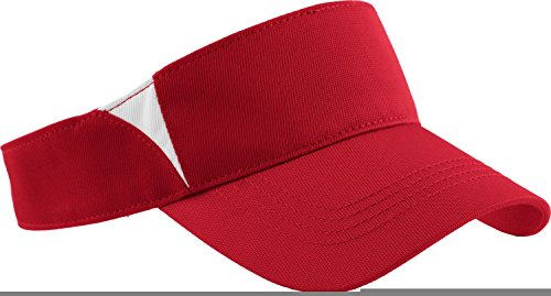 Sport-Tek - Dry Zone Colorblock Visor. STC13 - True Red / White