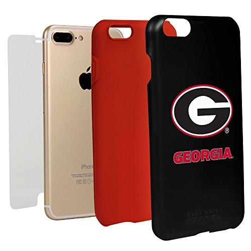 Georgia Bulldogs Cell Phone Case - Guard Dog Black Hybrid Case for iPhone 7 Plus / 8 Plus (Georgia Bulldogs)