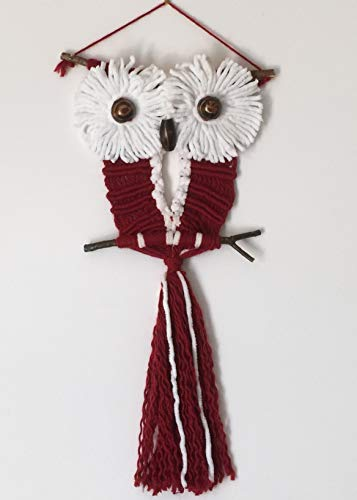 OWL 156 Macrame Wall Decoration, Wall Hanging, Small Macrame ()