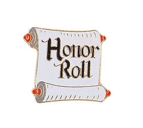 Scroll Roll (Pack of 100 Honor Roll Scroll Lapel Pins)