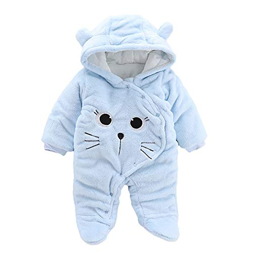 Baby Bear Velvet Quilted Puffer Suit Infant Animal Snowsuit Jumpsuit Costume -