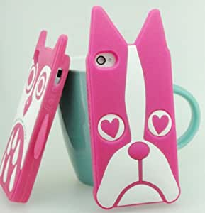 FLETRONMALL BRAND NEW PINK BEAR DESIGN SILICON RUBBER PROTECTOR GEL SKIN CASE COVER FOR IPHONE 5