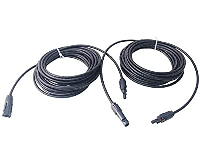 Signstek 25ft AWG 10 Double Layer MC4 PV Solar Cable Extension for Solar Panels with Solar Male and Female Connector