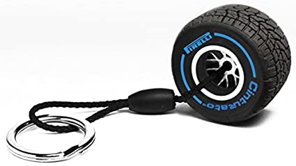Pirelli Wet Tire Keychain Blue