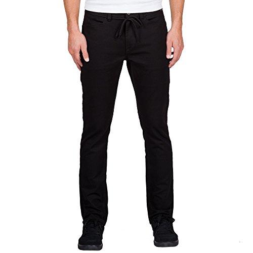 Volcom Men's Stone Made Gritter Slim Twill Chino Pant, Black, 32 (Slim Jeans Volcom)