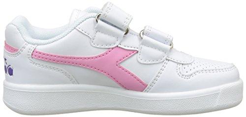 Diadora Playground PS, Zapatillas de Gimnasia Para Niños Blanco (Bianco Rosa Pourri)