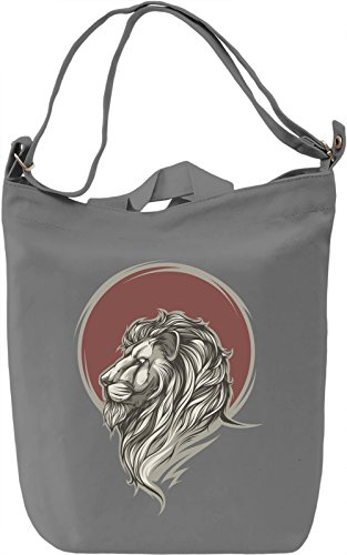Lion and the sun Borsa Giornaliera Canvas Canvas Day Bag| 100% Premium Cotton Canvas| DTG Printing|