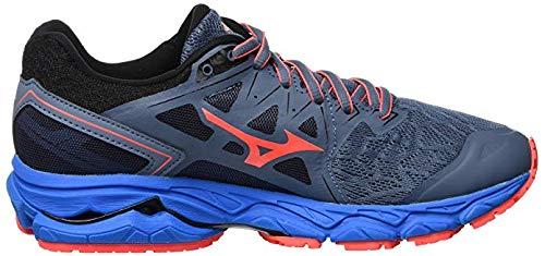 Ultima 001 Mizuno blue 10 Multicolore fierycoral bluemir Femme Basses Wave Sneakers qCZxPwq47