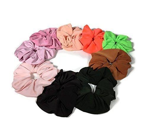 - Set of 3/Lycra Hair Scrunchies Athletic Scrunchies Swim Hair Ties Lycra Ponytail Holder Running Sports Hair Ties Made USA