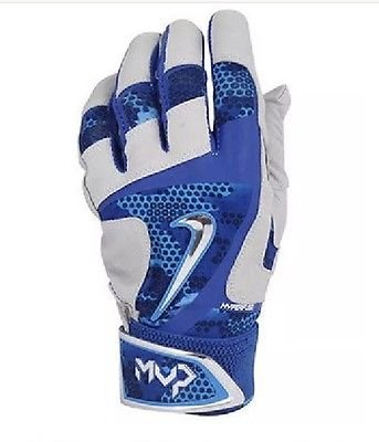Nike MVP Elite Pro Baseball Batting Gloves Size XX-Large Blue GB0399 480