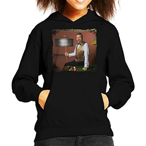 TV Times Snooker Player John Virgo from The Big Break Kid's Hooded Sweatshirt Black (Best Snooker Player Of All Time)