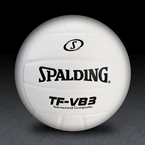 Spalding 72-1248 Top Flite Volleyball Leather 白い [並行輸入品]
