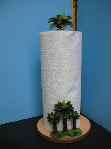 PALM TREE Paper towel holder Kitchen decor TROPICAL napkin set home new. - Palm Tree Paper Towel Holder