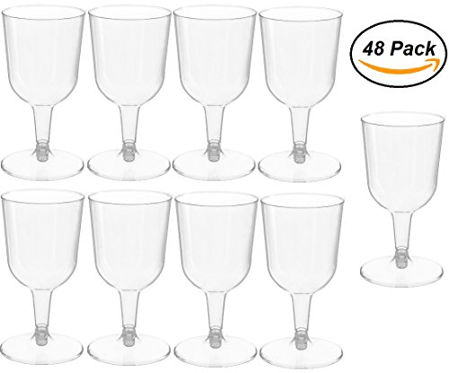 48 piece Clear Plastic Classicware Glass Like Champagne Wedding Parties Toasting Flutes 5 oz (Toasting Plastic Flutes)