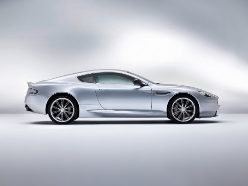 Martin Aston Db9 Coupe (Aston Martin DB9 Coupé (2012) Car Art Poster Print on 10 mil Archival Satin Paper Silver Side Studio View 36