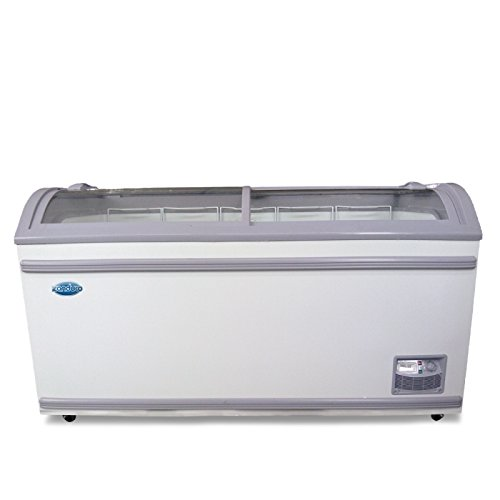 Omcan 31457 58-INCH ICE CREAM DISPLAY FREEZER WITH 17.7 CU. FT ()