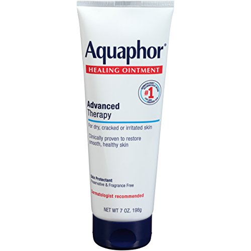 Aquaphor Healing Ointment - Dry Skin Moisturizer - Hands, Heels, Elbows, Lips - 7 oz. Tube