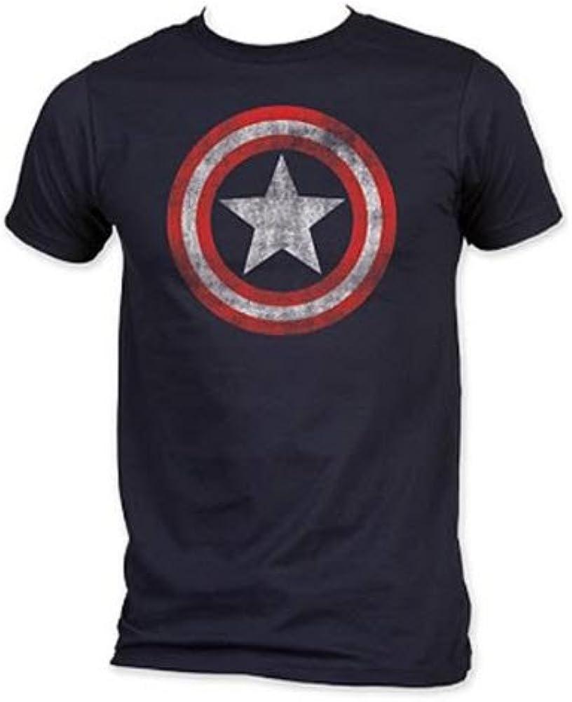 Captain America Shield - Camiseta de manga corta para hombre, diseño de escudo del Capitán América: Amazon.es: Ropa y accesorios