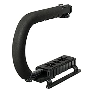 Generic Universal Stabilizer C-Shape Bracket Video Handheld Grip For DSLR DV Camera (Black) 26