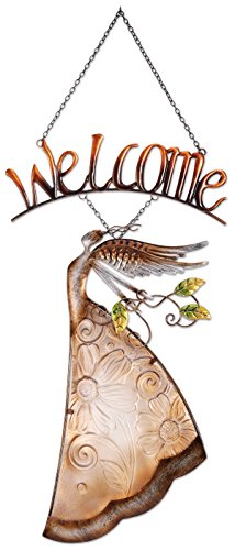 (Sunset Vista Designs Taupe Angel Welcome)