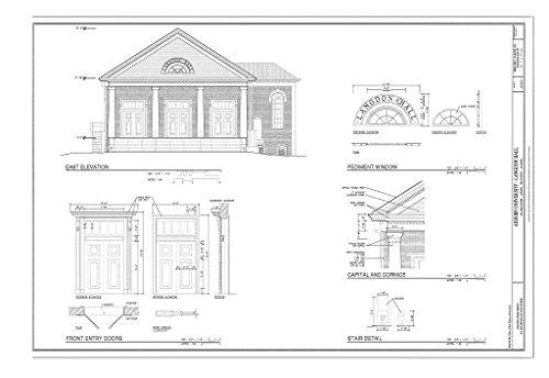 Historic Pictoric Blueprint Diagram HABS AL-993-A (Sheet 7 of 13) - Auburn University, Langdon Hall, College Street, Auburn, Lee County, AL 12in x 08in