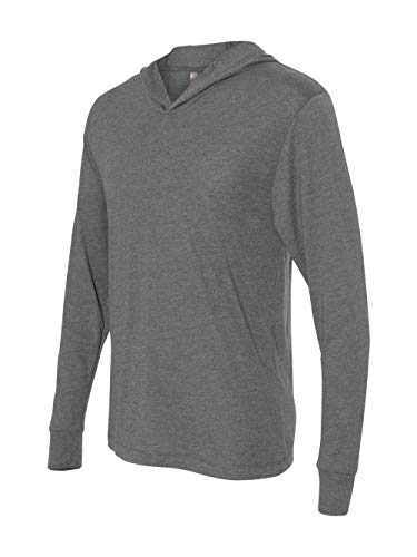 - Next Level 6021 Tri-Blend Long Sleeve Hoody - Premium Heather - S