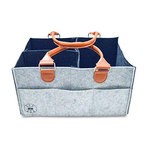 Diaper Caddy Organizer | Portable Nursery Organizer for Diapers and Swaddles | Changing Table Organizer | Car Organizer by Lil