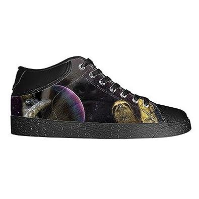 Custom Sloth Animal Mens Classic High Top Canvas Shoes Fashion Sneaker