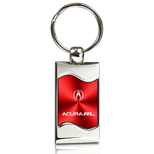 acura-rl-red-spun-brushed-metal-key-chain