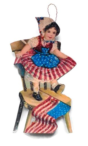 Fourth of July Ornament Decoration American Flag Party Girl Independence Day Holiday Handmade Gift