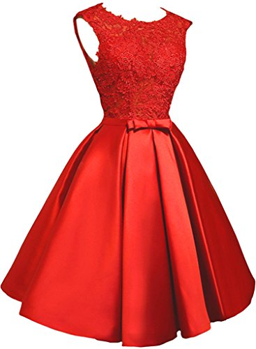 Victory Bridal - Robe - Trapèze - Femme -  rouge - 50