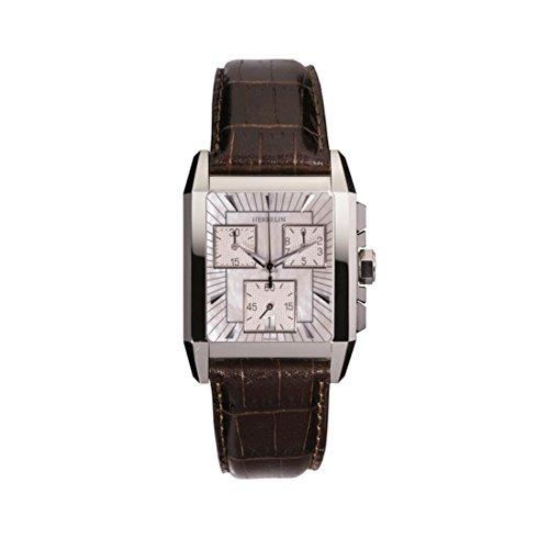 Michel Herbelin Women's Brown Leather Band Steel Case Sapphire Crystal Quartz MOP Dial Watch 34472/19MA