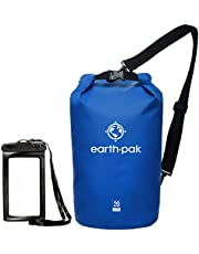 Earth Pak - Waterproof Dry Bag - Keeps Gear Dry for Kayaking, Rafting, Boating, Hiking, Camping and Fishing with Phone Case