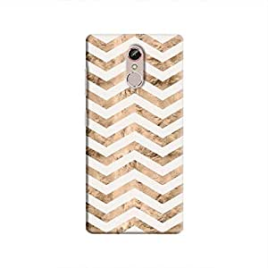 Cover It Up - Brown White Tri Stripes Gionee S6s Hard case